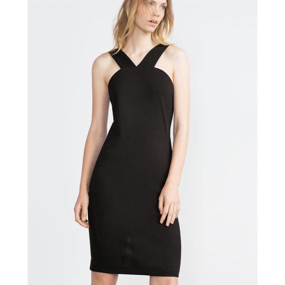 Zara Dresses & Skirts - Zara W&B Collection Little Black Halter Dress